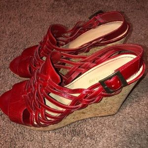 Enzo Angiolini red wedges size 9